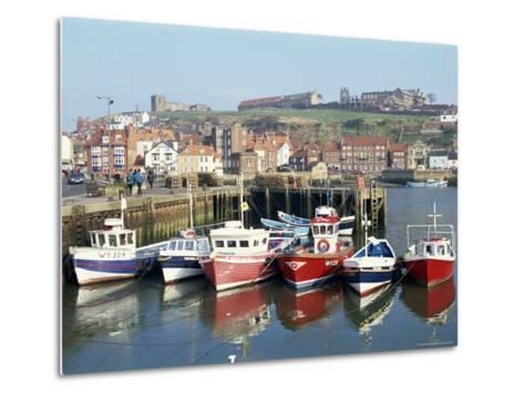 Whitby Harbour, Yorkshire, England, United Kingdom-Rob Cousins-Metal Print