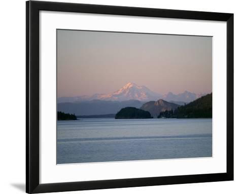 Mount Baker from San Juan Islands, Washington State, USA-Rob Cousins-Framed Art Print