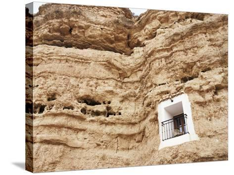 Bedroom Window of Cave Accommodation, Belerda, Near Guadix, Andalucia, Spain-Rob Cousins-Stretched Canvas Print