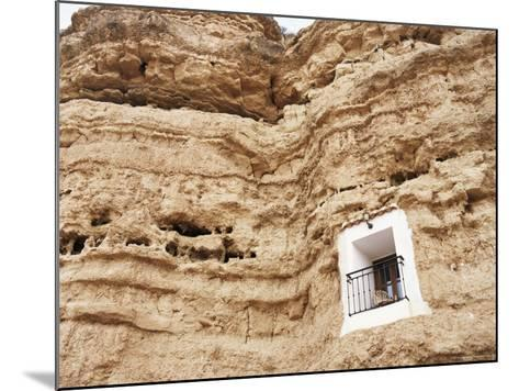 Bedroom Window of Cave Accommodation, Belerda, Near Guadix, Andalucia, Spain-Rob Cousins-Mounted Photographic Print