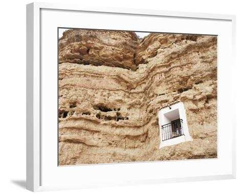Bedroom Window of Cave Accommodation, Belerda, Near Guadix, Andalucia, Spain-Rob Cousins-Framed Art Print