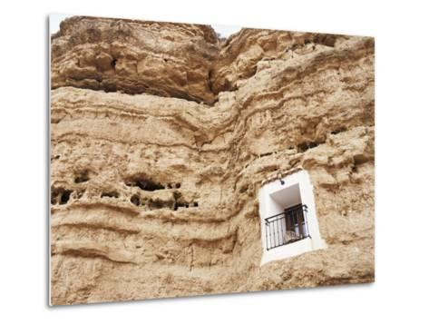 Bedroom Window of Cave Accommodation, Belerda, Near Guadix, Andalucia, Spain-Rob Cousins-Metal Print