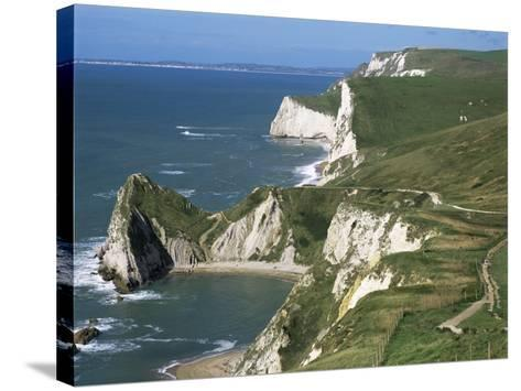 Coast Near Lulworth, Dorset, England, United Kingdom-Rob Cousins-Stretched Canvas Print