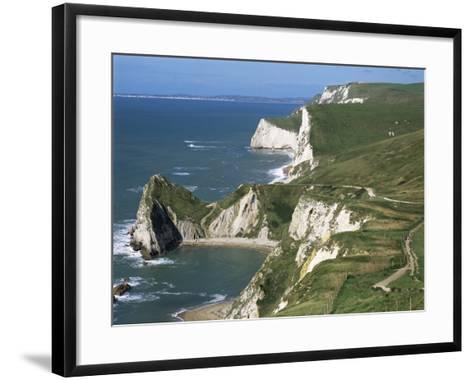 Coast Near Lulworth, Dorset, England, United Kingdom-Rob Cousins-Framed Art Print