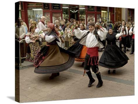 Dancing the Jota During the Fiesta Del Pilar, Zaragoza, Aragon, Spain-Rob Cousins-Stretched Canvas Print