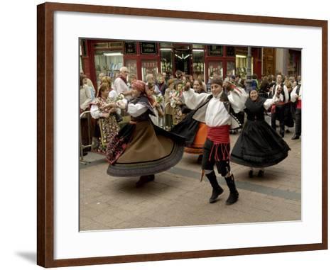 Dancing the Jota During the Fiesta Del Pilar, Zaragoza, Aragon, Spain-Rob Cousins-Framed Art Print