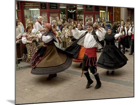 Dancing the Jota During the Fiesta Del Pilar, Zaragoza, Aragon, Spain-Rob Cousins-Mounted Photographic Print