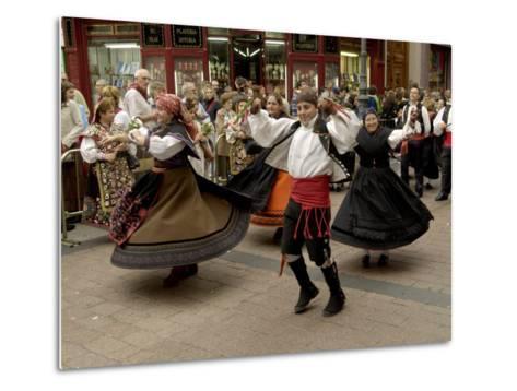 Dancing the Jota During the Fiesta Del Pilar, Zaragoza, Aragon, Spain-Rob Cousins-Metal Print