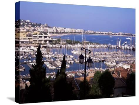 Cannes and the Festival Theatre, Alpes-Maritimes, French Riviera, France-Kathy Collins-Stretched Canvas Print