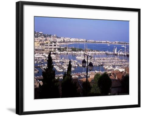 Cannes and the Festival Theatre, Alpes-Maritimes, French Riviera, France-Kathy Collins-Framed Art Print