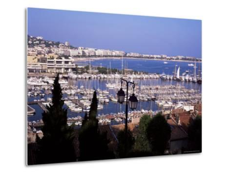 Cannes and the Festival Theatre, Alpes-Maritimes, French Riviera, France-Kathy Collins-Metal Print
