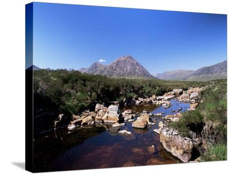 Bauchaille Etive, Glencoe, Highland Region, Scotland, United Kingdom, Euorpe-Kathy Collins-Stretched Canvas Print