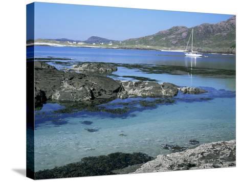 Sanna Beach from Portuairk, Ardnamurchan, Highland Region, Scotland, United Kingdom-Kathy Collins-Stretched Canvas Print