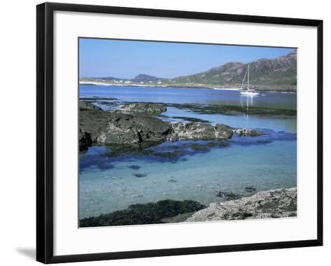 Sanna Beach from Portuairk, Ardnamurchan, Highland Region, Scotland, United Kingdom-Kathy Collins-Framed Art Print