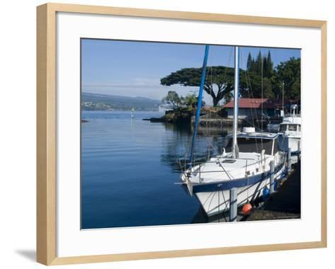 Hilo Bay, Island of Hawaii (Big Island), Hawaii, USA-Ethel Davies-Framed Art Print
