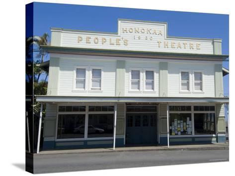 People's Theatre, Honokaa, Island of Hawaii (Big Island), Hawaii, USA-Ethel Davies-Stretched Canvas Print