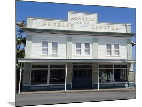 People's Theatre, Honokaa, Island of Hawaii (Big Island), Hawaii, USA-Ethel Davies-Mounted Photographic Print