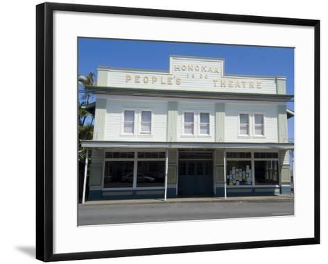 People's Theatre, Honokaa, Island of Hawaii (Big Island), Hawaii, USA-Ethel Davies-Framed Art Print