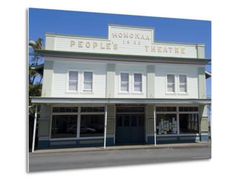 People's Theatre, Honokaa, Island of Hawaii (Big Island), Hawaii, USA-Ethel Davies-Metal Print