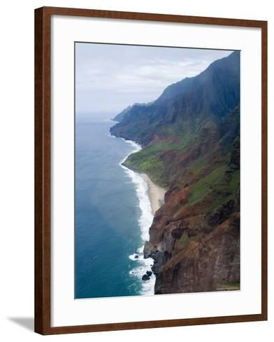 Na Pali, North Coast of the Island of Kauai, Hawaii, USA-Ethel Davies-Framed Art Print
