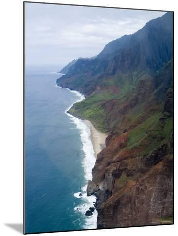 Na Pali, North Coast of the Island of Kauai, Hawaii, USA-Ethel Davies-Mounted Photographic Print