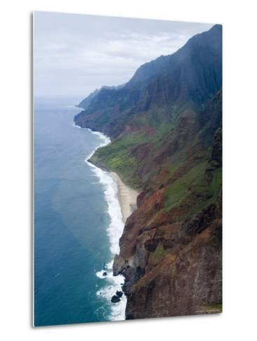 Na Pali, North Coast of the Island of Kauai, Hawaii, USA-Ethel Davies-Metal Print