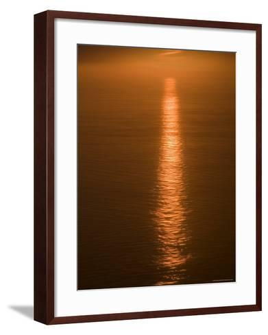 Sunset Just off the Coast of Oahu, Hawaii, United States of America, Pacificnorth America-Ethel Davies-Framed Art Print