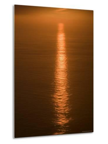 Sunset Just off the Coast of Oahu, Hawaii, United States of America, Pacificnorth America-Ethel Davies-Metal Print