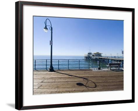 Santa Monica Pier, Santa Monica, California, USA-Ethel Davies-Framed Art Print