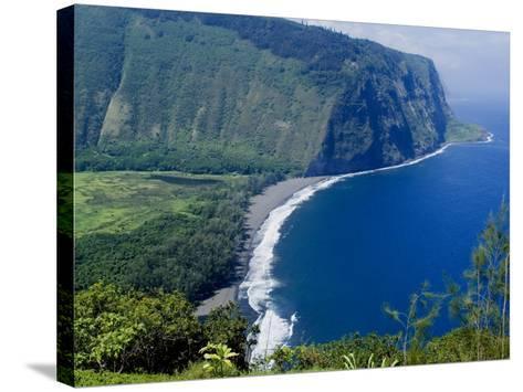 View of Waipio Valley, Island of Hawaii (Big Island), Hawaii, USA-Ethel Davies-Stretched Canvas Print