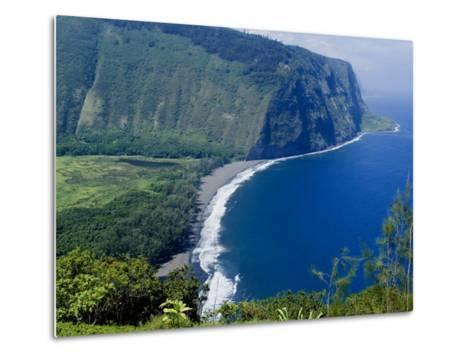 View of Waipio Valley, Island of Hawaii (Big Island), Hawaii, USA-Ethel Davies-Metal Print