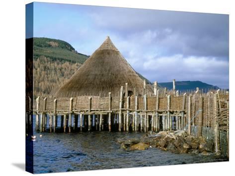 Iron Age Crannog Centre, Loch Tay, Scotland, United Kingdom-Ethel Davies-Stretched Canvas Print