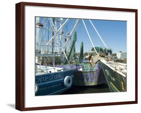 Harbor, Bayou Le Batre, Alabama, USA-Ethel Davies-Framed Art Print