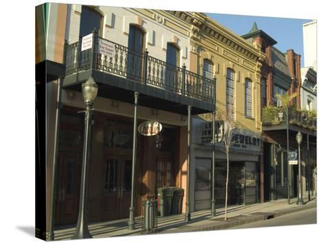 Dauphin Street, Downtown, Mobile, Alabama, USA-Ethel Davies-Stretched Canvas Print