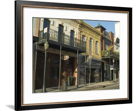 Dauphin Street, Downtown, Mobile, Alabama, USA-Ethel Davies-Framed Art Print