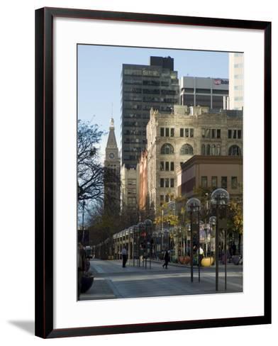 16th Street Mall, Denver, Colorado, USA-Ethel Davies-Framed Art Print