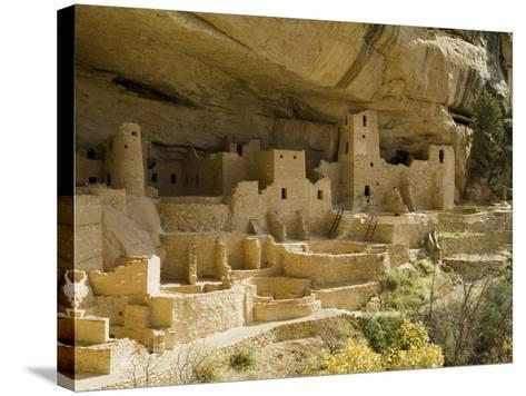 Cliff Palace, Mesa Verde National Park, Unesco World Heritage Site, Colorado, USA-Ethel Davies-Stretched Canvas Print