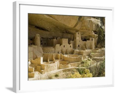 Cliff Palace, Mesa Verde National Park, Unesco World Heritage Site, Colorado, USA-Ethel Davies-Framed Art Print