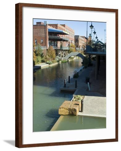 Bricktown, Oklahoma City, Oklahoma, USA-Ethel Davies-Framed Art Print