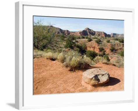 Palo Duro State Park, Near Amarillo, Texas, USA-Ethel Davies-Framed Art Print