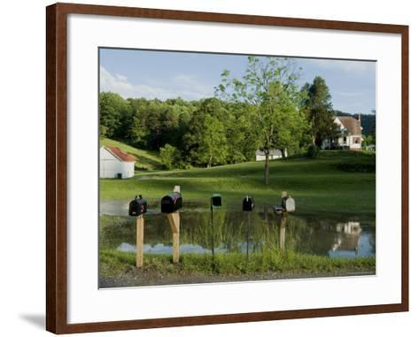 Rural Postboxes, West Virginia, USA-Ethel Davies-Framed Art Print