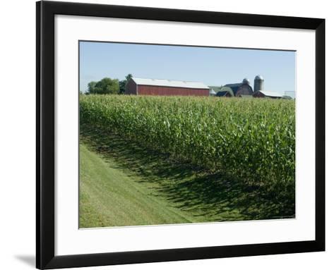 Farm, North Wood Park, Wisconsin, USA-Ethel Davies-Framed Art Print