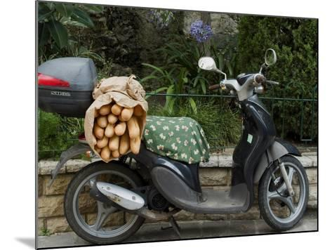 Baguettes on Back on Scooter, Monaco-Ethel Davies-Mounted Photographic Print
