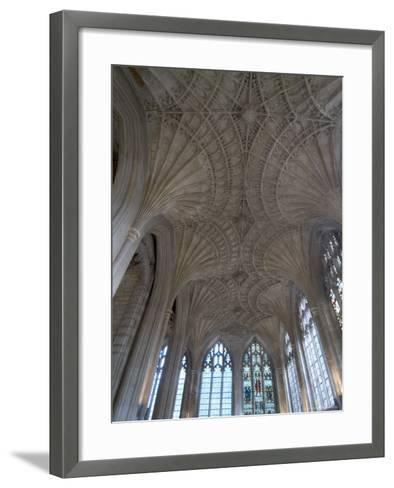 Ceiling Detail, Peterborough Cathedral, Peterborough, Cambridgeshire, England-Ethel Davies-Framed Art Print