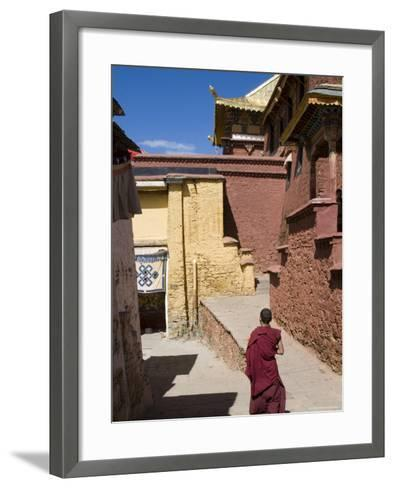 Ganden Monastery, Near Lhasa, Tibet, China-Ethel Davies-Framed Art Print