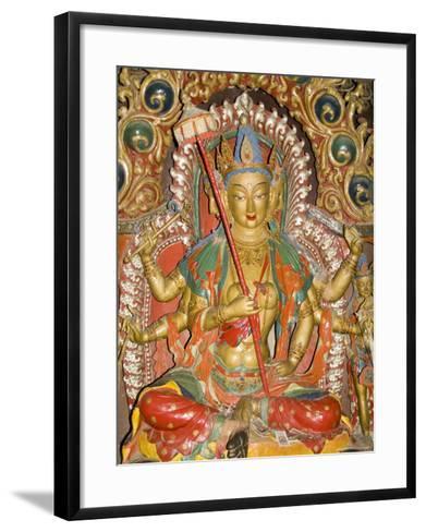 Sculpture, Kumbum, Gyantse, Tibet, China-Ethel Davies-Framed Art Print