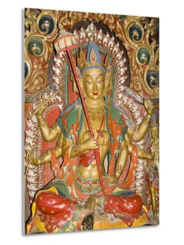 Sculpture, Kumbum, Gyantse, Tibet, China-Ethel Davies-Metal Print