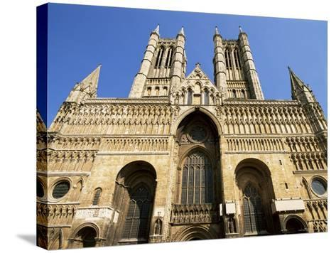 Lincoln Cathedral, Lincoln, Lincolnshire, England, United Kingdom-Neale Clarke-Stretched Canvas Print