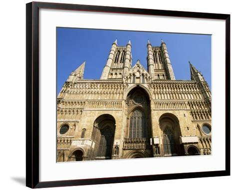 Lincoln Cathedral, Lincoln, Lincolnshire, England, United Kingdom-Neale Clarke-Framed Art Print