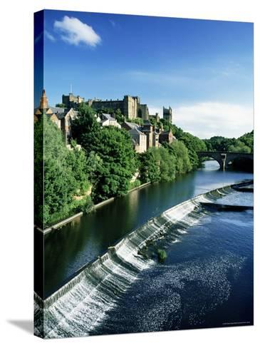 Durham Centre and River Wear, Durham, County Durham, England, United Kingdom-Neale Clarke-Stretched Canvas Print